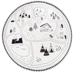 Kruhový koberec LES