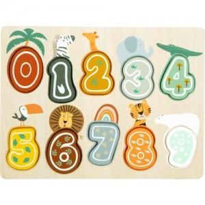 Puzzle Čísla safari