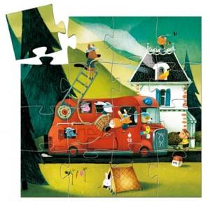 Puzzle Požiarnické auto