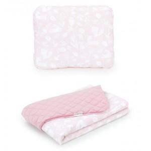 Detský bavlnený set ružový les