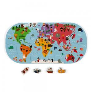 Puzzle do vody Mapa sveta