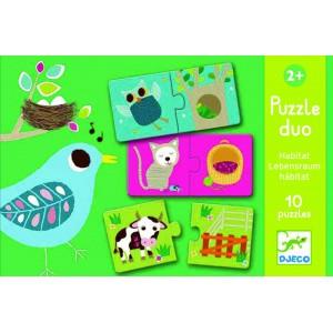 Puzzle Duo Kde žijú zvieratká