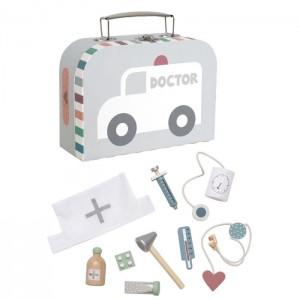 Lekársky kufrík - strieborný